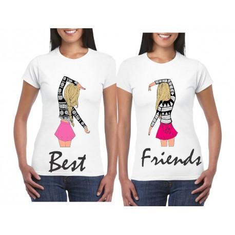 Camiseta estampada Best Friends