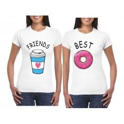 Camiseta Estampada Café Y Rosca