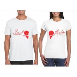 Camiseta estampada enamorados