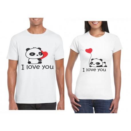 Camiseta estampada osos panda