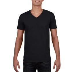 camisetas GILDAN cuello v negro