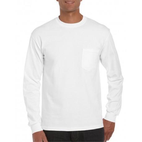 Camisetas gildan manga larga blanca